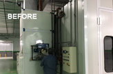 old spray booth heating system