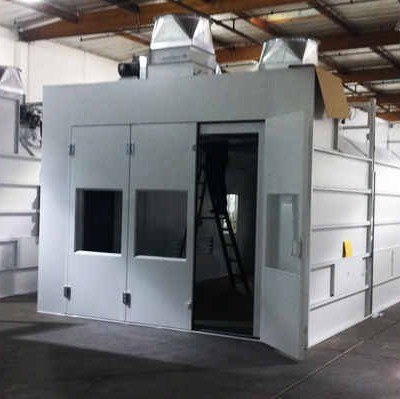 fleet spray booth installation 2