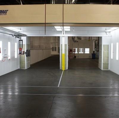 fleet spray booth installation 1