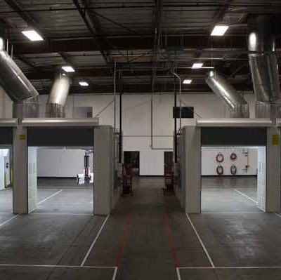 fleet spray booth installation 3